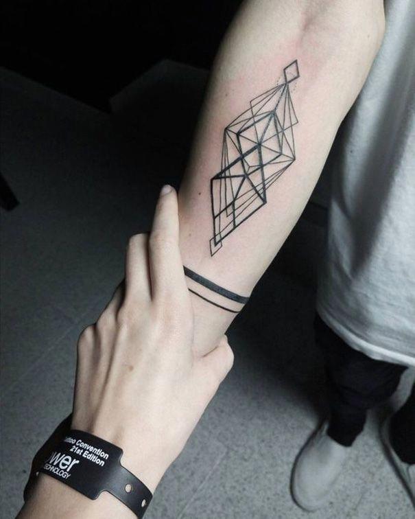 Nature Geometric Tattoo (4)