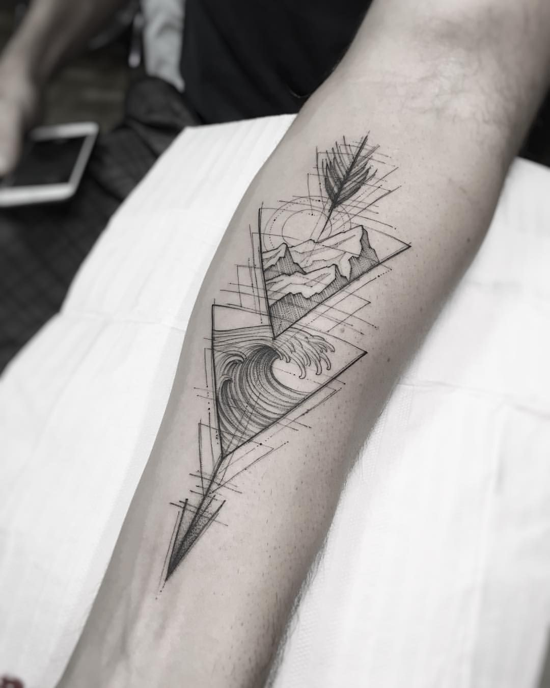 Nature Geometric Tattoo (7)