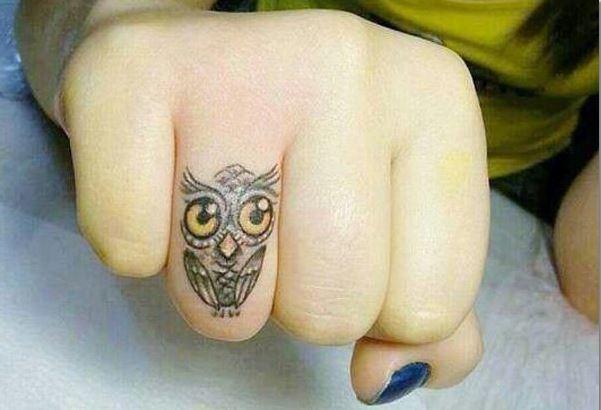Owl Finger Tattoos