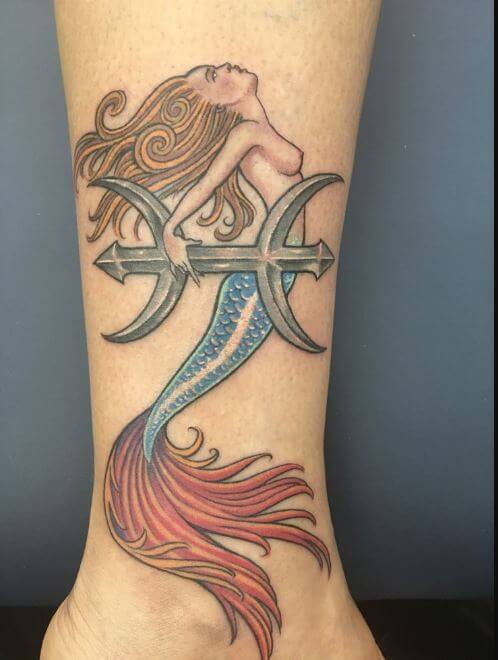 Pisces Mermaid Tattoos