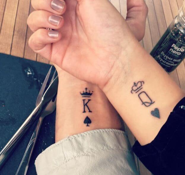Simple Couples Tattoos