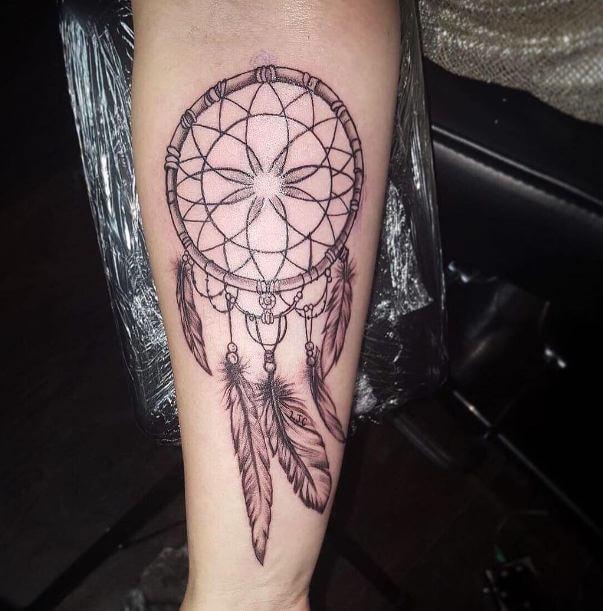 Simple Dream Catcher Tattoos