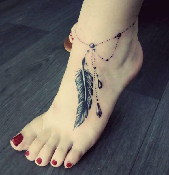 Simple Feet Tattoos