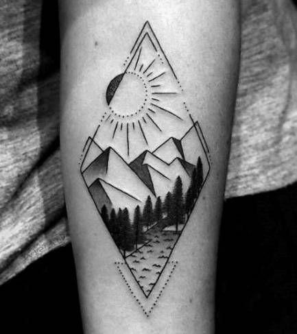 Simple Shape Tattoos (4)
