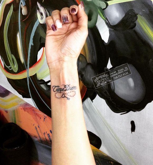 Small Key With Carpe Diem Tattoos