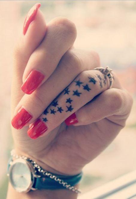 Star Tattoos On Finger