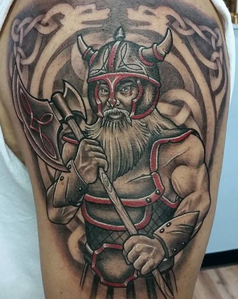 Traditional Viking Warrior Tattoos