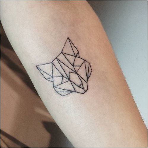 Triangle With Line Through It Tattoo (4)