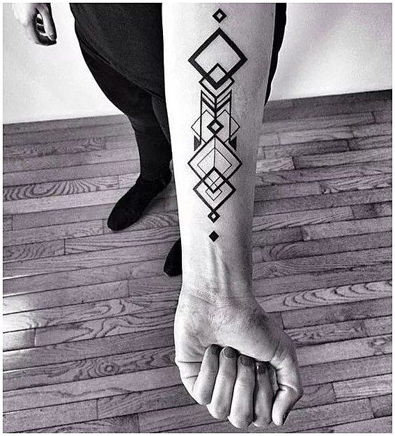 Triangle With Line Through It Tattoo (7)