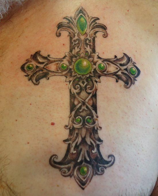 Tribal Cross Tatoo Designs (2)