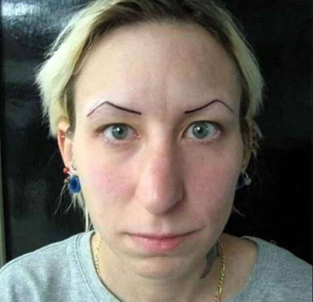 Worst Eyebrow Tattoos