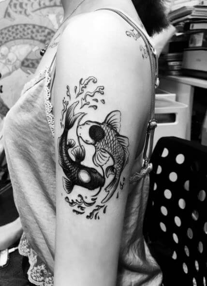 Yin And Yang Tattoos For Best Friends