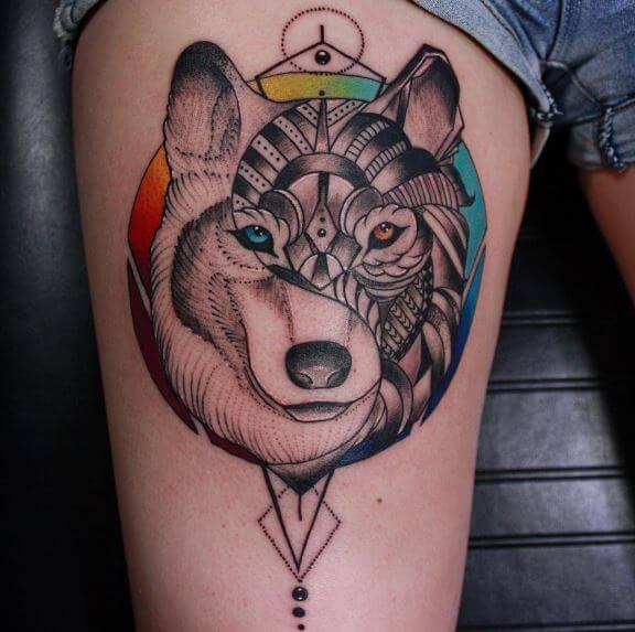 Yin Yang Animal Tattoos