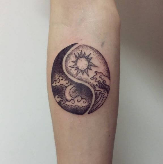 Yin Yang Tattoo For Female