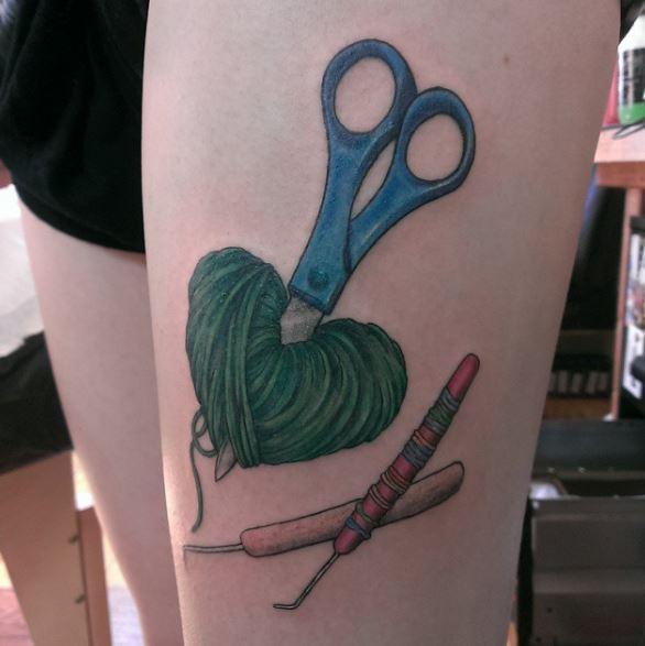 3D Knitting Tattoos Design And Ideas