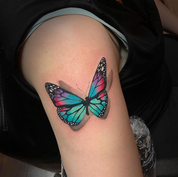 3d Butterfly Tattoos 1