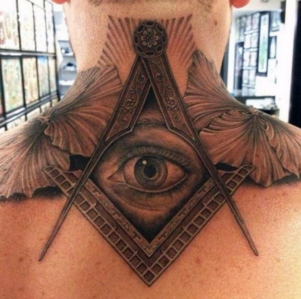 All Seeing Eye Neck Tattoos Design And Ideas For Men