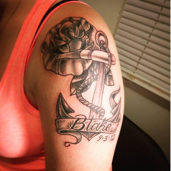 Anchor Tattoos Design On Shoulder