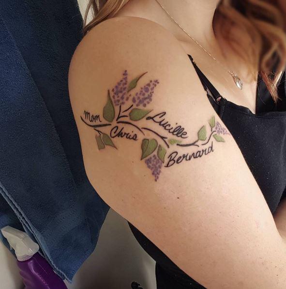 Awesome Flower Tattoos Design On Shoulder