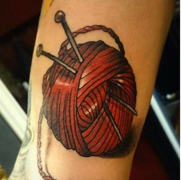 Awesome Knitting Tattoos Design And Ideas