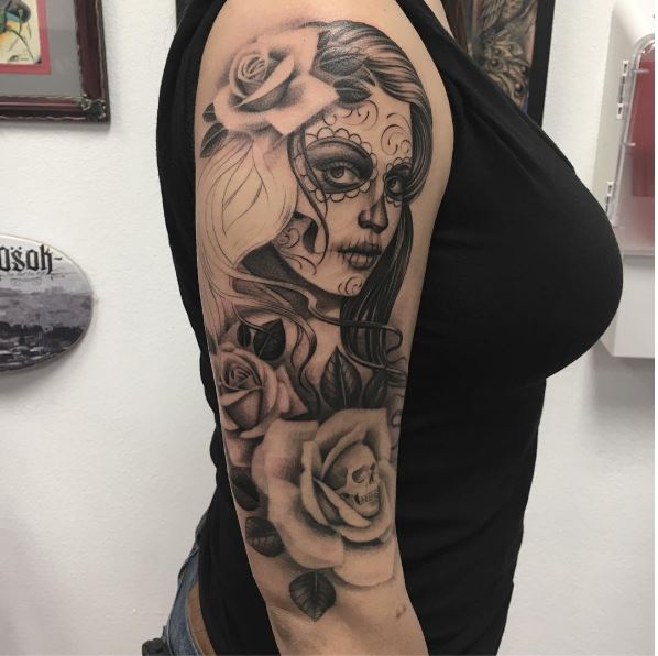 Aztec Girls Tattoos Design For Women