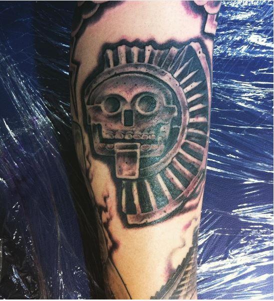 Aztec Tattoos Design On Arms