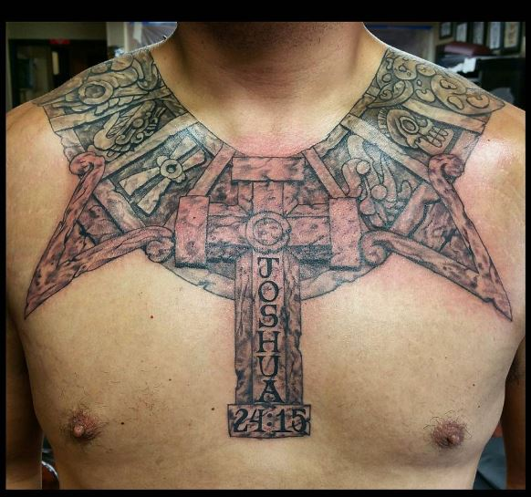 Aztec Tattoos Design On Chest