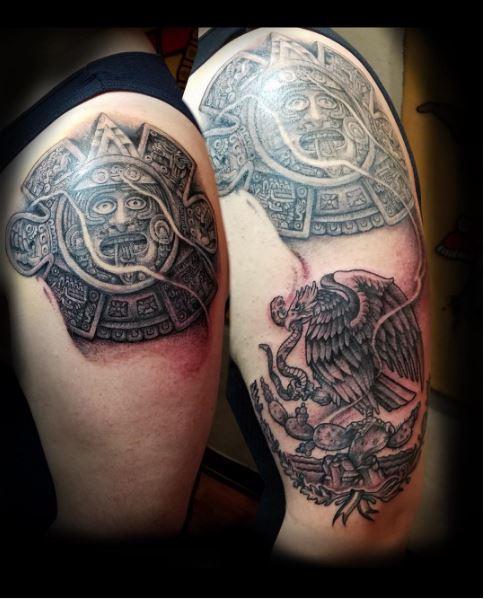Aztec Tattoos Design On Shoulder