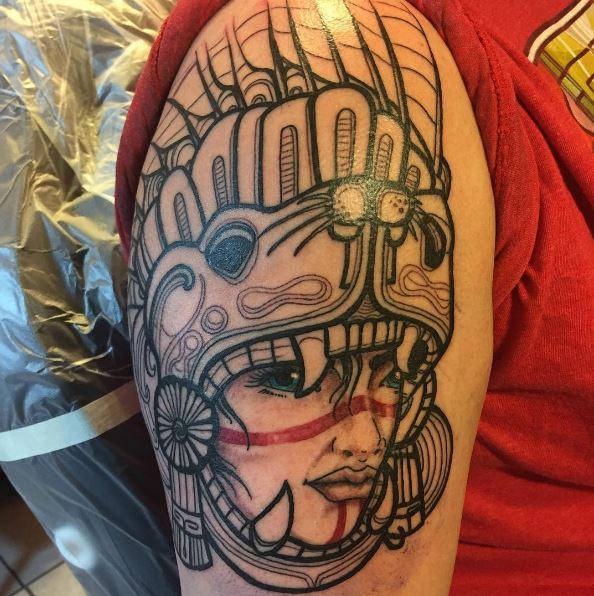 Aztec Warrior Women Tattoos Design And Ideas