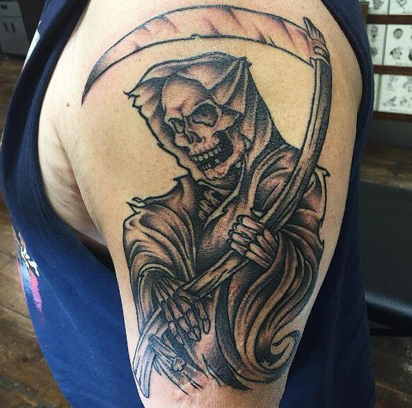 Beautiful Grim Reaper Tattoos For Men
