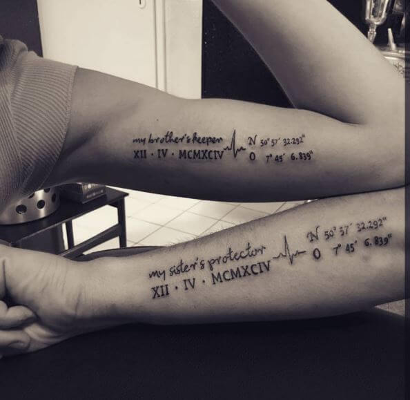 Beautiful Sibling Tattoos For Brothers And Sisters