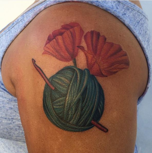 Best Amazing Knitting Tattoos Design And Ideas