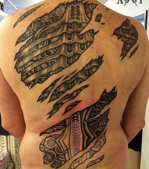 Bio Mechanical Tattoo 4