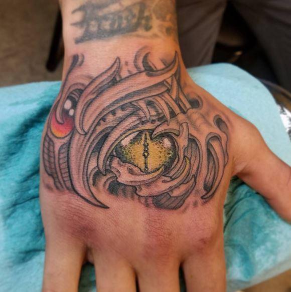 Bio Mechanical Tattoo On Arm 24