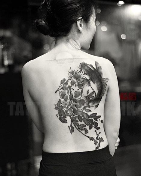 Black Tattoo On Back 1