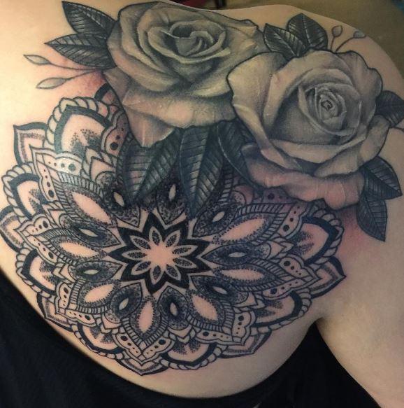 Black Tattoo On Back