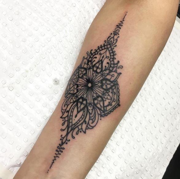 Black Work Tattoo On Arm 1