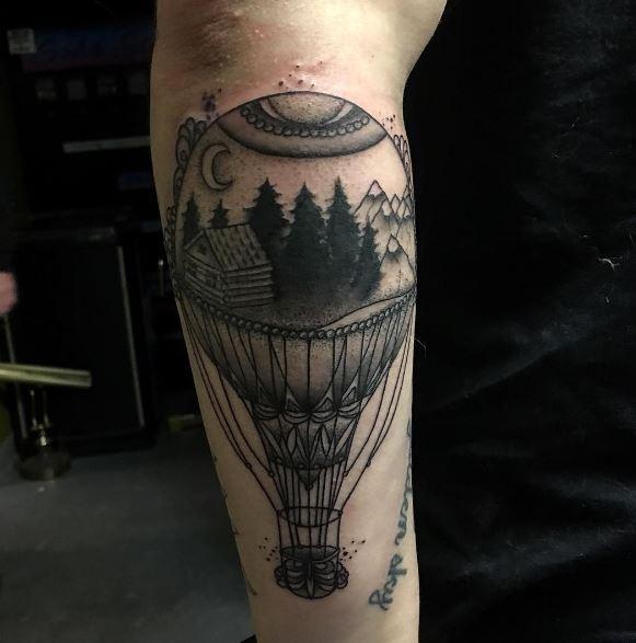 Black Work Tattoo On Arm 11