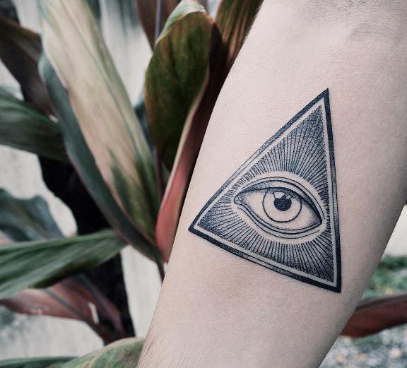 Black Work Tattoo On Arm 14