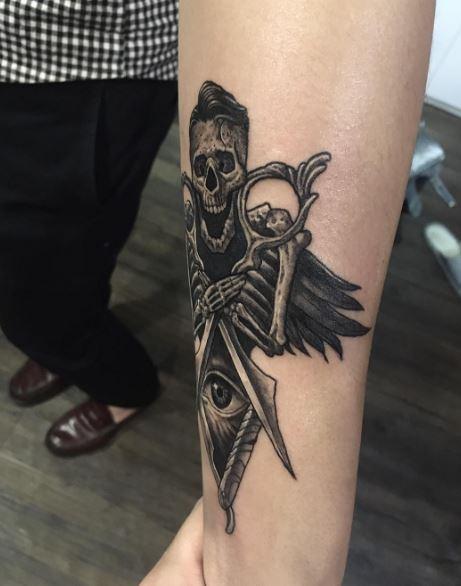 Black Work Tattoo On Arm 15