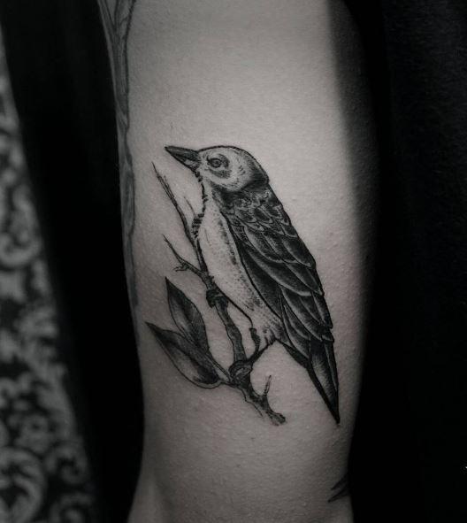 Black Work Tattoo On Arm 16