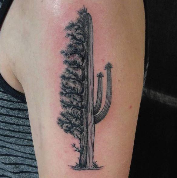 Black Work Tattoo On Arm 2