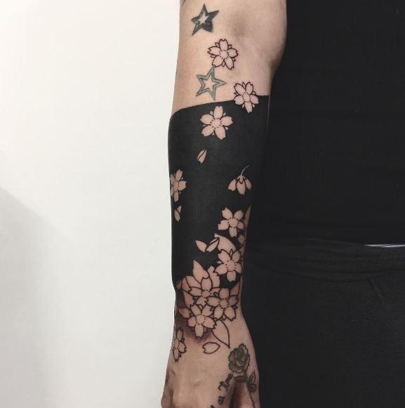 Black Work Tattoo On Arm 28