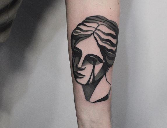 Black Work Tattoo On Arm 5