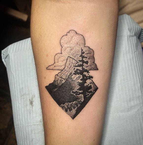Black Work Tattoo On Arm 7