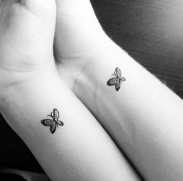 Butterfly Sibling Tattoos Design And Ideas