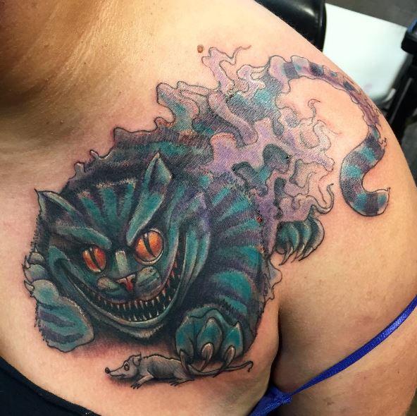Cat Tattoos Design On Shoulder