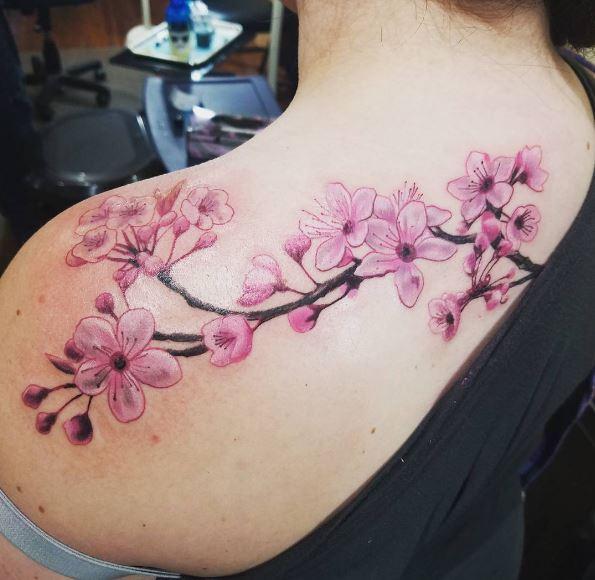 Cherry Blossom Tattoos Design For Women