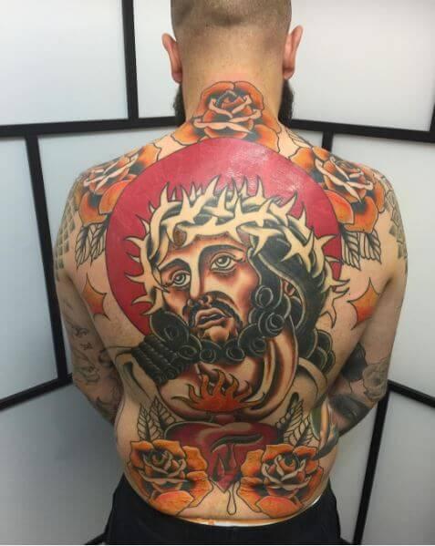 Colored Jesus Christ Tattoos Design And Ideas