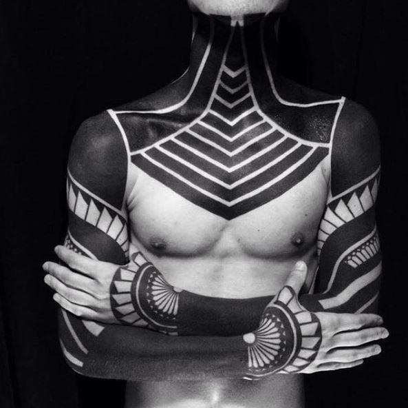 Dark Aztec Tattoos Design Full Body Part